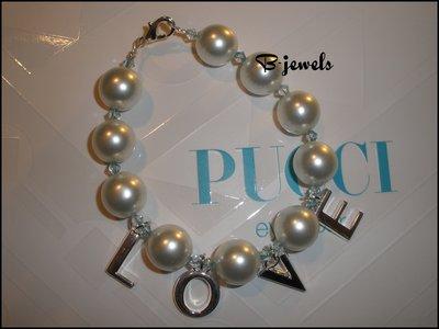 """Bracciale con perle """"Love"""""""