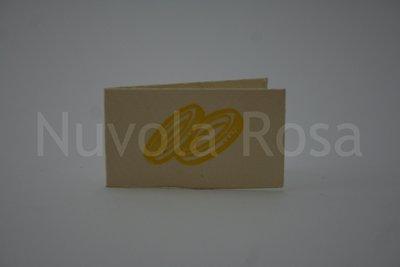 Bigliettino bomboniera giallo con fedi