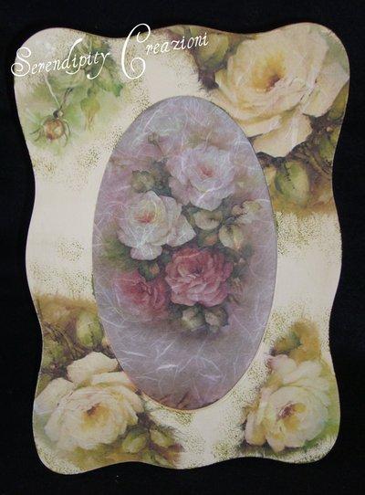 Portafoto Rose Antiche