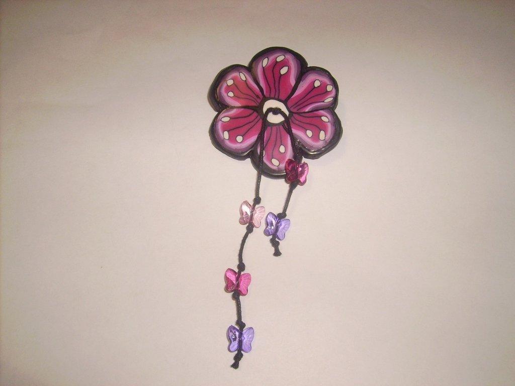 spilla fiore viola