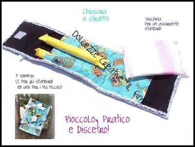 ★★SALDI Astuccio per Assorbenti - Tampax molto discetro in tessuto kawaii con gufetti!