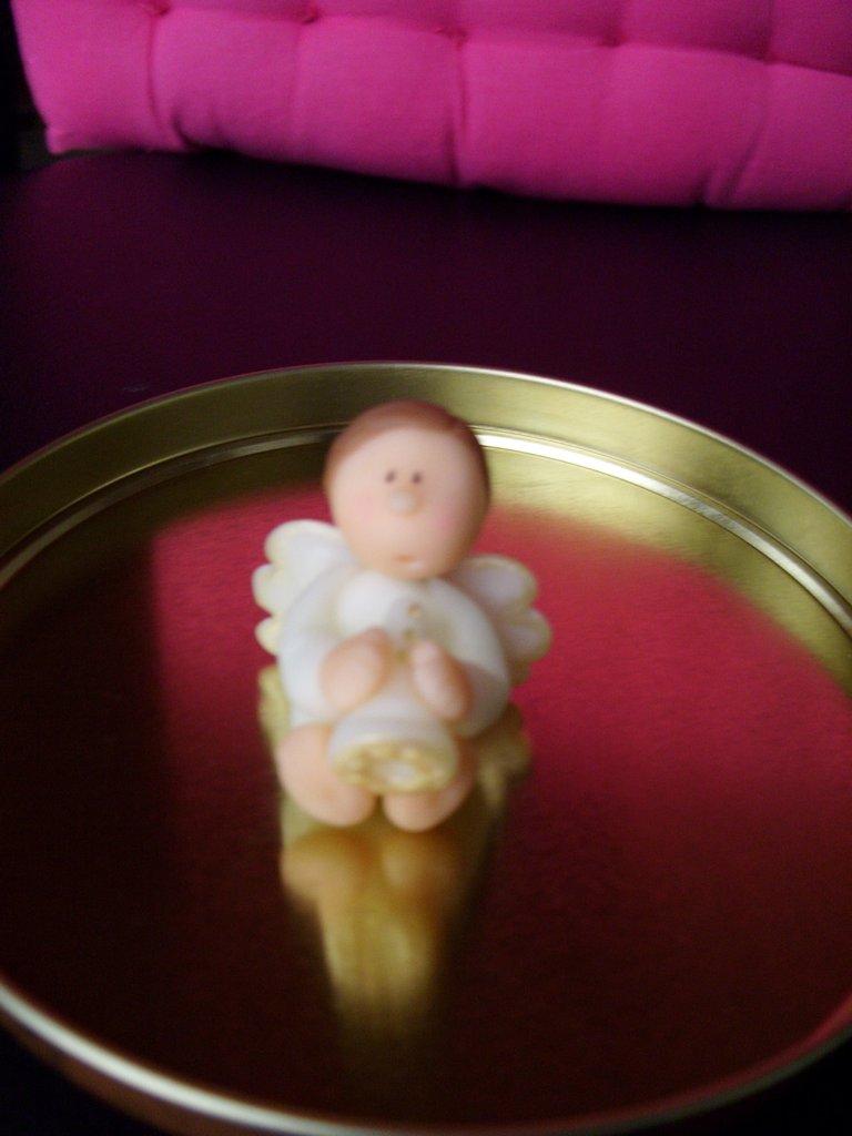 Bomboniera nascita battesimo comunione angelo Natale
