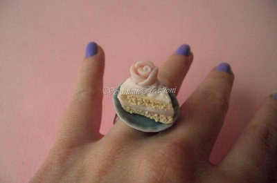 Anello fetta di torta