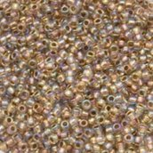 Perline Toho 15/0 Linea Oro Cristallo Arcobaleno