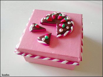 Scatolina Torta cioccolato e fragole