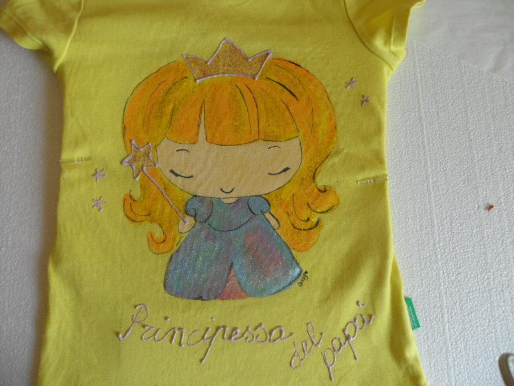 Maglietta Principessa del papà