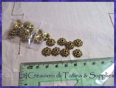 10 copriperle oro antico