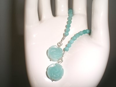 orecchini rose amazonite