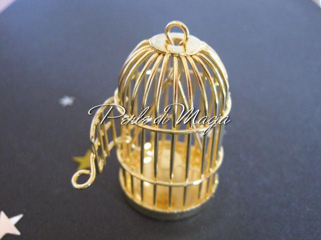 Gabbietta in metallo oro