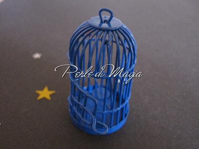 Gabbietta in metallo blu