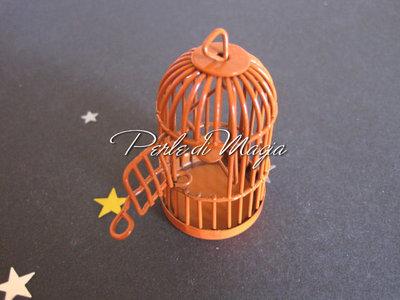 Gabbietta in metallo arancio