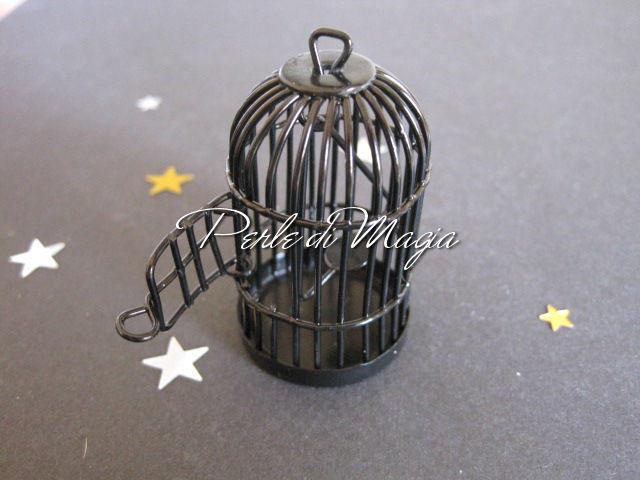 Gabbietta in metallo nera