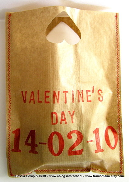 Set di 5 borsette di carta, porta regali di San Valentino o bomboniere per matrimonio eco chic  SPESE SPEDIZIONE GRATIS