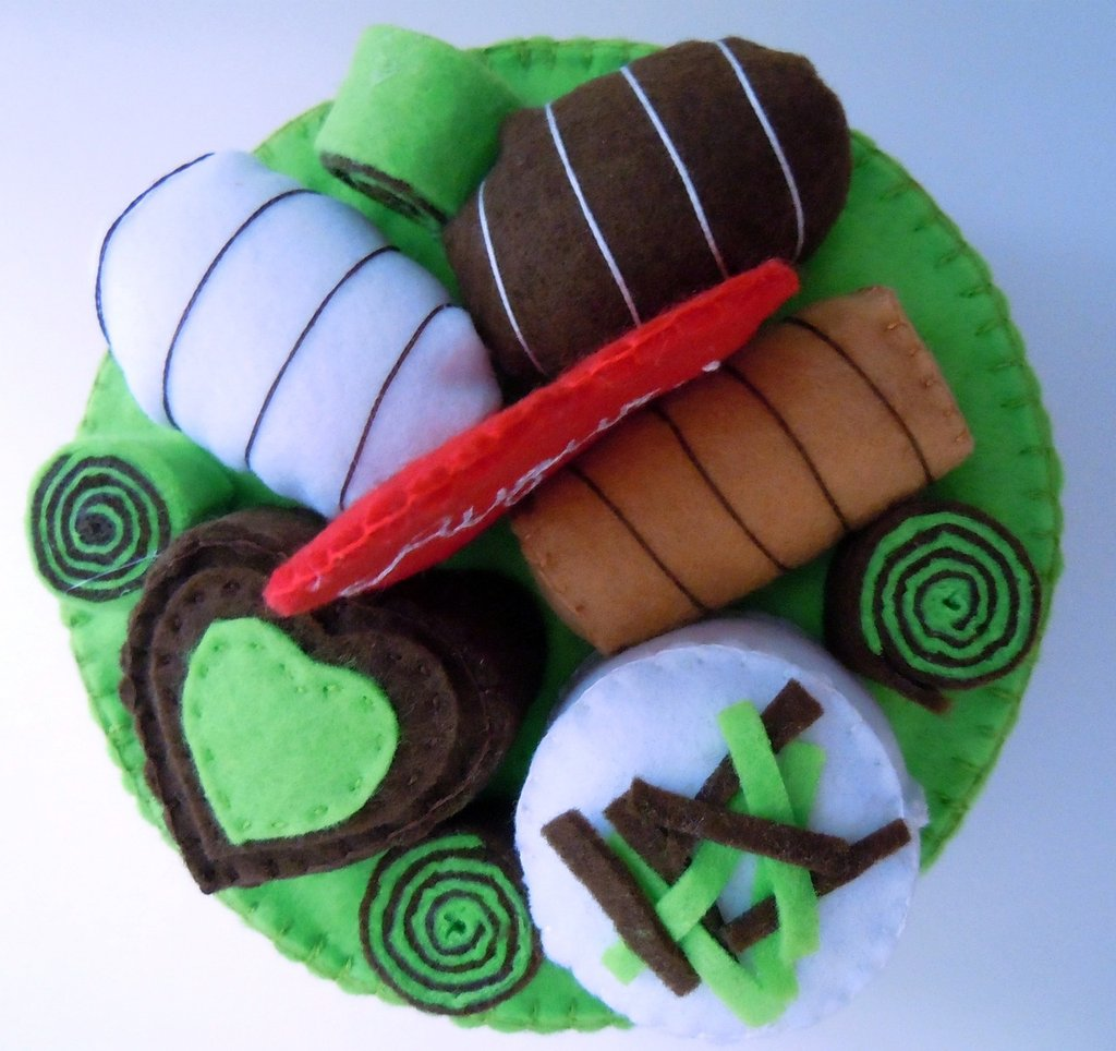 Round cake - choco mint