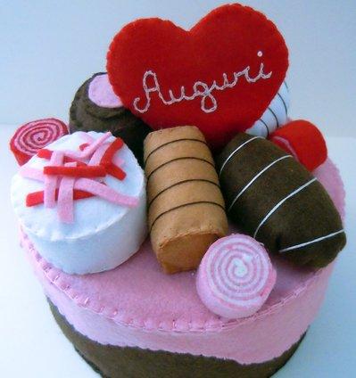 Round cake - choco strawberry