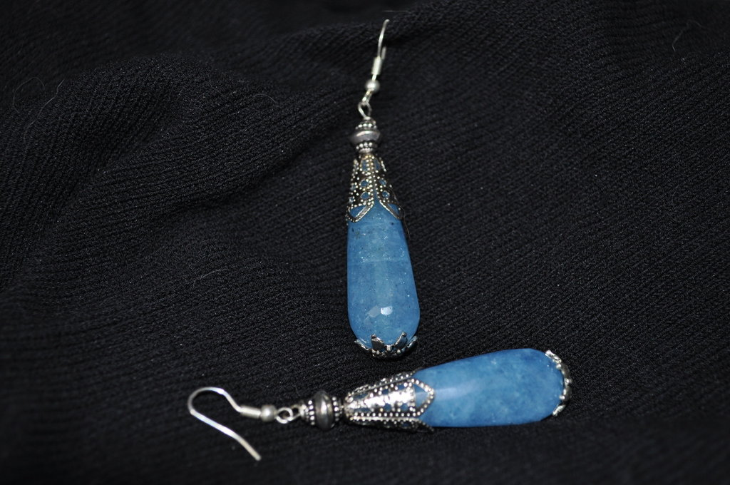 Orecchini Agata azzurra
