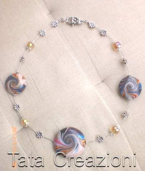 Collier con tecnica swirl