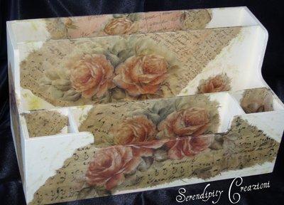 Portaposta, portadocumenti con rose