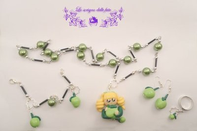 Bambolina Kawaii collezione summer fruits green apples
