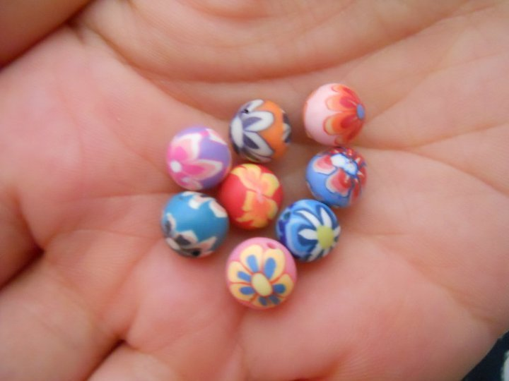 Lotto 8 Palline/Murrine in fimo