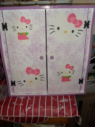 decoupage mobile hello kitty