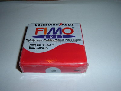 FIMO SOFT  ROSSO n° 26