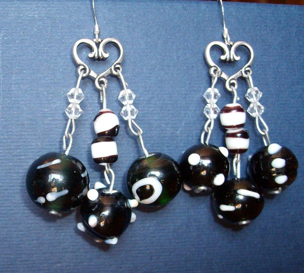 chandelier di perle in vetro
