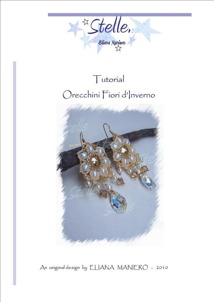 Schema pdf Orecchini Fiori d'Inverno