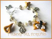 """Bracciale Farfalla Fimo Serie """"Butterfly Naif"""" Estate 2011 Calle Oro"""