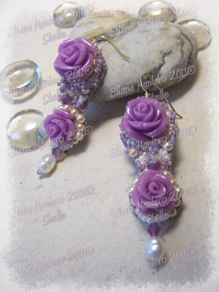 orecchini Violet Rose