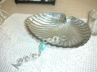 bracciale chainmail con pietra azzurra