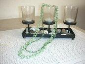 collana verde doppia con quarzo verde