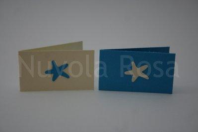 Bigliettino bomboniera con stella marina