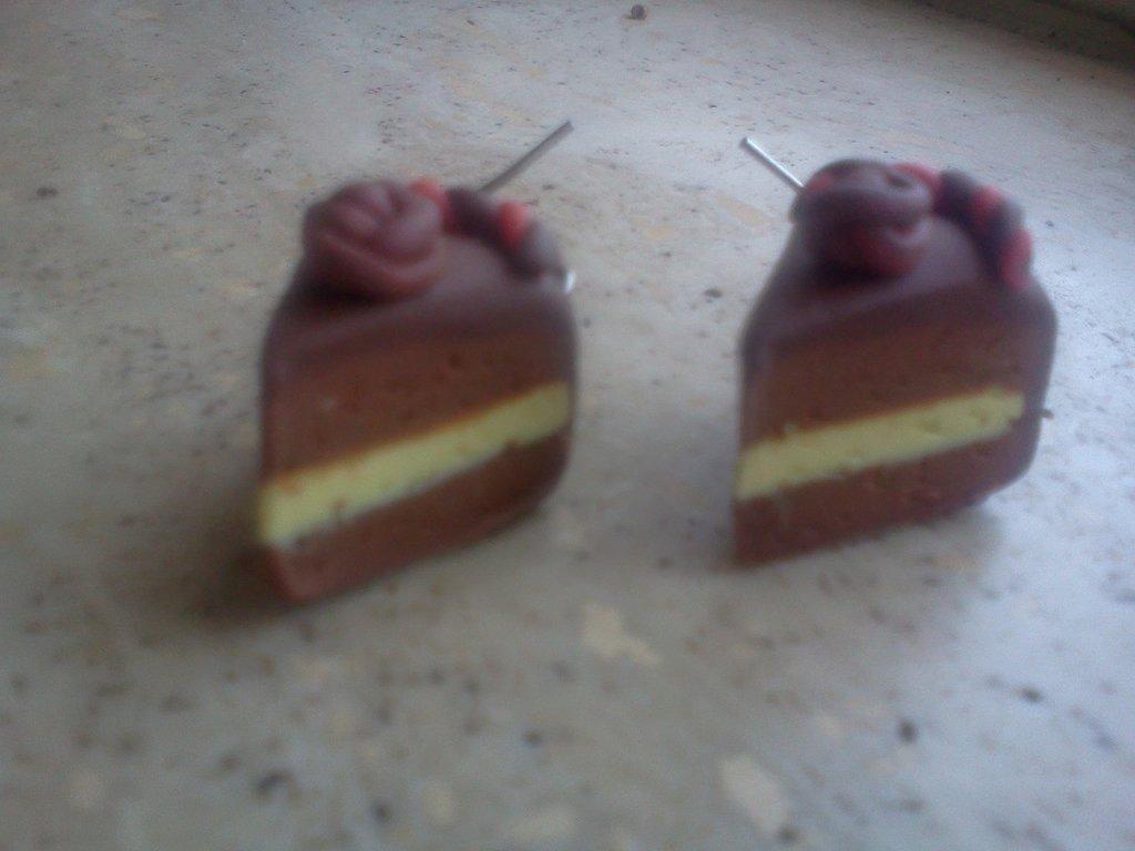 Orecchini con tortine cioccolato