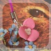PINK FLOWER phonestrap