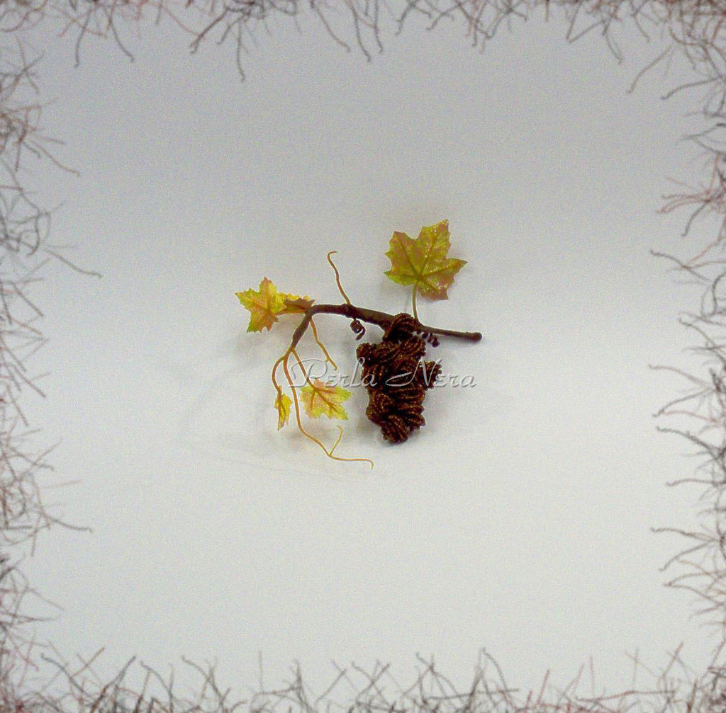 Grappolo d'uva con perline