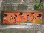 LA MIA AFRICA quadro di stoffa fatto a mano