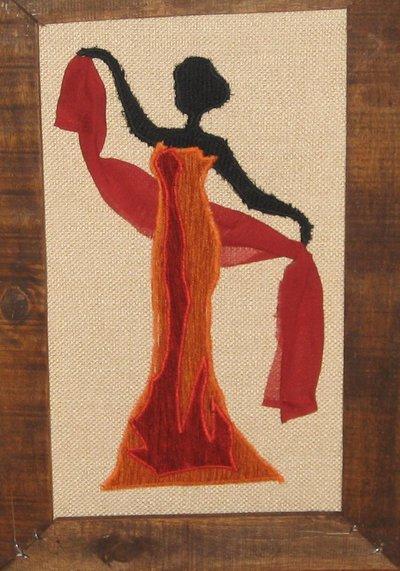 Le danzatrici un tris di quadri in stoffa fatti a mano - Quadri fatti in casa ...