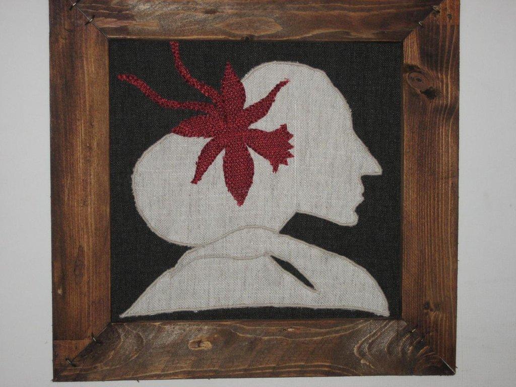 CARMEN quadro in stoffa fatto a mano