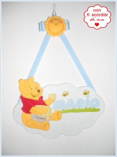 Annuncio Nascita: Winnie the Pooh con miele