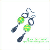 Flash Green Earrings