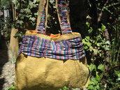 """BORSA""""SOLE""""- borsa in stoffa fatta a mano"""