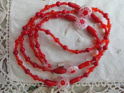 collane per occhiali rosse 4 modelli