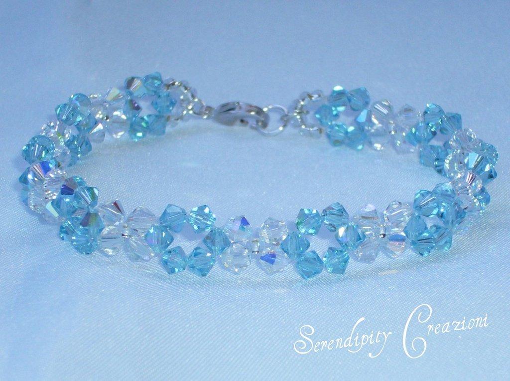 Bracciale Swarovski Elements Azzurro