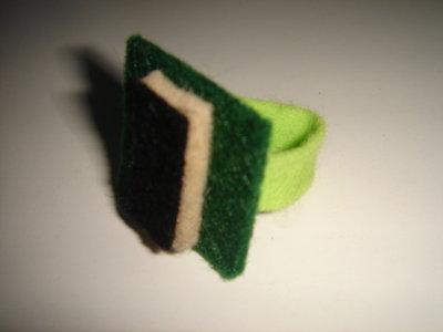anello feltro verde