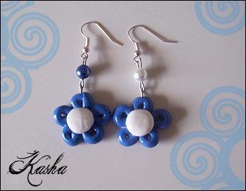 Orecchini Fiorellini blu