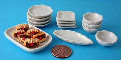 Lotto Piatti Ceramica in Miniatura