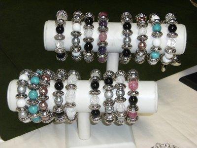 braccialetti elastici pietre dure