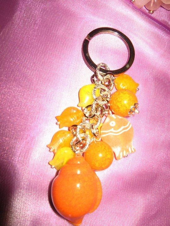 portachiave arancione
