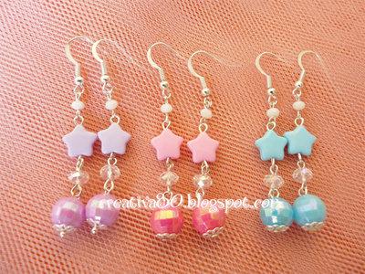 Orecchini perle e stelle